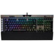 Tastatura Gaming Mecanica Corsair K95 Platinum, Cherry MX Speed RGB, Layout US (Negru)