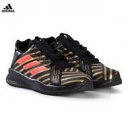 adidas Performance Rapida Turf Messi Sneakers Svart/Guld/Röd Barnskor 38 (UK 5)