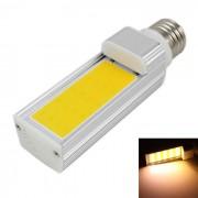 KINFIRE E27 7W 560lm Lampara ahorro de energia de la luz blanca blanca de la COB de 3000K LED - plata (AC 85 ~ 265V)