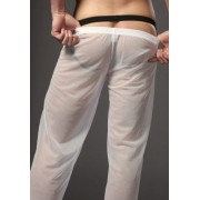 N2N Bodywear Sheer Pants Loungewear White E5