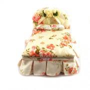 Cutie de bijuterii - model pat din plus crem floral