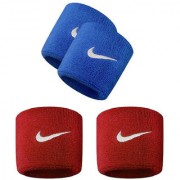 Verceys Blue And Red Sports Wrist Band - Pack Of 4