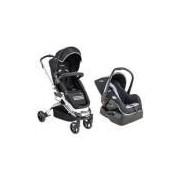 Carrinho de Bebê e Bebê Conforto Travel System Preto Eclipse Kiddo