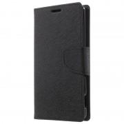 Capa tipo Carteira Mercury Goospery Fancy Diary para Sony Xperia M5, Xperia M5 Dual - Preto