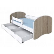 Łóżko dla dziecka z materacem HAPPY II - kolory drewna