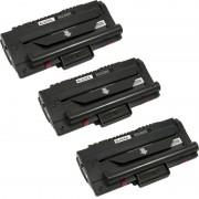 ZipZap SCX4200 Pack 3 Tóners Compatibles Samsung Negro