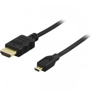 Deltaco MicroHDMI till HDMI-kabel ( 2 meter )