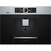 Espressor incorporabil Bosch CTL636ES6, 19 bar, 1600 W, 2.4 l, Display TFT, Touch control, Spumare lapte, Home Connect, Inox