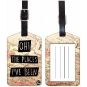 Nutcaseshop OH THE PLACES Luggage Tag(Multicolor)