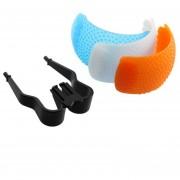 ER 3 Color Buena Qualtity Difusor De Flash Emergente Cubrir Para Canon Nikon -Blue & White & Orange