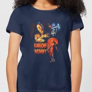 Universal Monsters The Mummy Vintage Poster Women's T-Shirt - Navy - L - Navy
