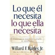 Lo Que el Necesita, Lo Que Ella Necesita: Construya un Matrimonio A Prueba de Infidelidades = His Needs Her Needs, Paperback/Willard F. Harley