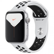 Apple Watch Nike Series 5 GPS 44mm Silver Aluminium Case Pure Platinum Black Sport Band