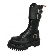Lederstiefel/Boots KMM 14-Loch - Black - 144