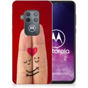 Motorola One Zoom Silicone Back Cover Liefde