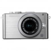 Refurbished-Stallone-Hybrid Olympus PEN E-PL3 DZK Silver + Lens 14-42mm / 40-150mm f/3.5-5.6