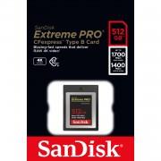 SANDISK Cartão CFexpress Extreme Pro 512GB 1700/1400Mb/s (XQD)