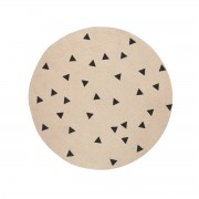 ferm LIVING - Jute Carpet, Triangle, small Ø 100 cm