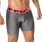 PPU Graphite Stripe Long Leg Boxer Brief Underwear Grey 1405