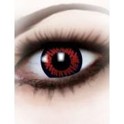 Lentillas fantasía ojo de hombre lobo rojo Halloween adulto Única