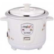 Greenchef RC06W Electric Rice Cooker with Steaming Feature(0.6 L, White)
