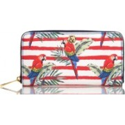 H&B Women Red, Blue, Multicolor Genuine Leather Wallet(8 Card Slots)
