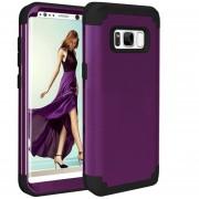 Para Samsung Galaxy S8 Dropproof 3 En 1 No Gap En El Medio Funda De Silicona Para El Telefono Movil (brown)
