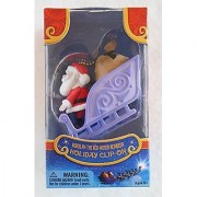 Rudolph the Red-Nosed Reindeer SANTA AND SLEIGH Holiday Clip-On 50th Anniversary
