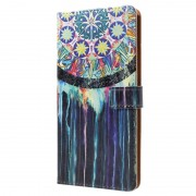 Bolsa Tipo Carteira Glam para Sony Xperia XZ1 - Pintura com Espanta Espíritos
