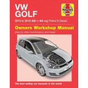 Volkswagen Haynes Werkplaatshandboek VW Golf benzine &: Diesel (2013-2016)