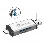 3 in 1 USB 3.0 TF SD Type-C Card Reader Type-C to Micro USB OTG Adapter