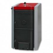 Pachet Centrala termica pe lemne din fonta stil cazan VIADRUS U22-D7 35 kw, Boiler termoelectric ELDOM 120 L, accesorii
