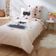 LA REDOUTE INTERIEURS Bedruckter Kinder-Bettbezug CAT OPERA