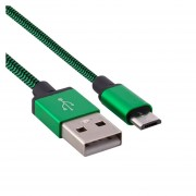 1m Woven Estilo Micro USB A USB 2.0 Cable Datos / Cargador Para Samsung, HTC, Sony, Lenovo, Huawei Y Otros Smartphones (verde)