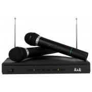 Set pentru Karaoke cu 2 Microfoane Wireless si Receptor, Acoperire 30m