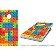 Stickit Graphix Lego Blocks Cornhole Wrap set! 2x Decals Custom Vinyl Legos graphics for cornhole baggo Bag Toss boards game