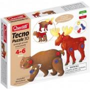 Quercetti tecno puzzle 3d orso & renna 0542