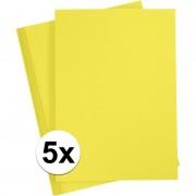 Geen Geel knutselpapier A4 formaat
