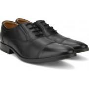 Clarks Kalden Cap Black Leather lace up For Men(Black)