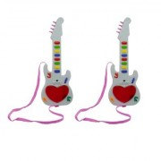 New Pinch Musical Mini Guitar Instrument with 3D Lighting Sound Learning Toy for Kids (Pack of 2)