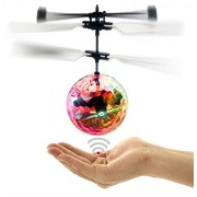 IBUYTOP Rc Flying Ball, Infrared Induction Helicopter Ball Built-In Shinning Led Lighting for Kids, Teenagers Colorful Flyings Kid's Toy Shin