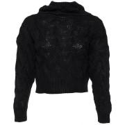 ComeGetFashion Gebreide cropped sweater zwart - Truien & Sweaters