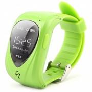 Ceas Smartwatch GPS Copii iUni U11 Telefon incoporat Alarma SOS Green Bonus Bratara Roca Vulcanica unisex