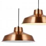 [lux.pro]® Dekoratívna dizajnová design závesná lampa / stropná lampa - medená – biela (1 x E27)