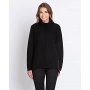 My Cashmere Moments by Gala Rollkragen-Pullover mit Kordelzug 39 schwarz female Größe 42