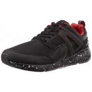 Puma Unisex Aril Modern Tech Black and High Risk Red Sneakers - 7 UK