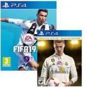 Игра FIFA 19 + FIFA 18 Ronaldo edition за PlayStation 4 - PS4