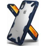 Husa iPhone XR Ringke FUSION X Transparent Albastru