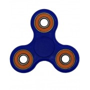 Mörkblå och Orange Fidget Spinner - NB! Kort Spinntid!