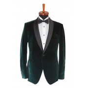 Sacou smoking catifea Slim Fit Gentlemen`s Corner - Green